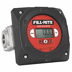 Flowmeter, Nutating, 1-1/2 In, 6 to 40 GPM