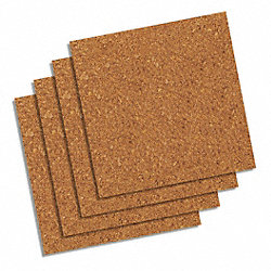 Bulletin Board Tiles, Natural, PK 4