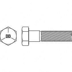 Hex Cap Screw, 1-8 x 4-1/4 In, PK10