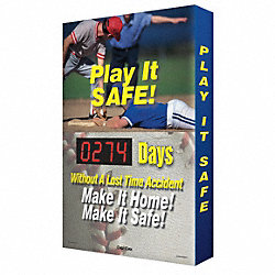 Scoreboard, Play It Safe, 24 x 36 In.