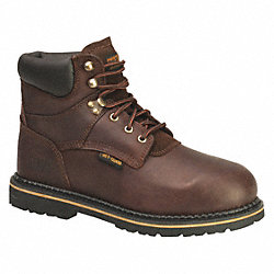 Work Boots, Steel Toe, MetGrd, 9-1/2M, PR