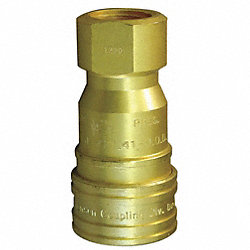 Coupler Socket, Brass, 1/2
