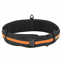 Work Belt, 30 to 54 In Waist, Blk/Ylw, Clip