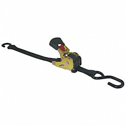 Cargo Strap, Retractable 6ft x 1In, PK2