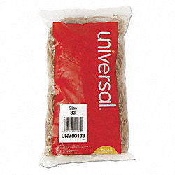 Rubber Band, 3-1/2 In., Sz 33, Beige, PK 630