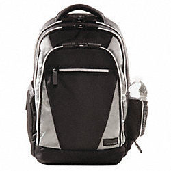 Laptop Backpack, Black/Platinum, 17.3 In.