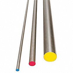 Water Hard Drill Rod, W1, 1/2, 0.5 In