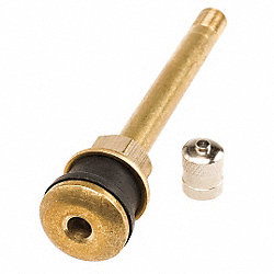 Truck/Bus Tire Valve, 3 3/8 In, Pk 100