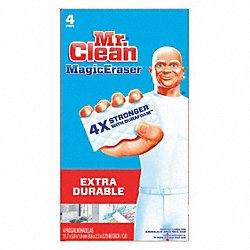 Cleaning Pad, White, 3-1/2In L, 5In W, PK32