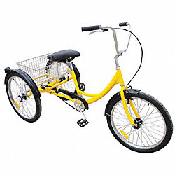 Industrial Tricycle, 24 In, Rear Basket