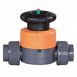 Diaphragm Valve, 1-1/2 In, PTFE