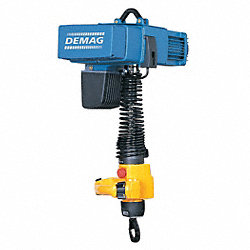 Electric Chain Hoist, 550 lb., 0 to 52 fpm