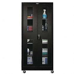 Mobile Storage Cabinet, 48x24, Black