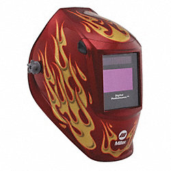Welding Helmet, Dig Performance, Red Flame
