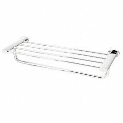 Towel Shelf, Chrome, 21-3/8 In L