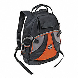 Tool Backpack, 14 x 7 x18 In, 39 Pkt, Black
