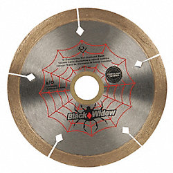 Tile Saw Blade, Wet/Dry, 4 In Dia