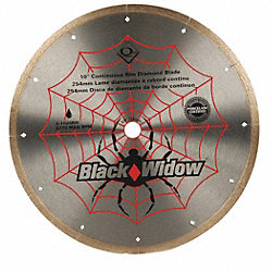 Tile Saw Blade, Wet, 10 In Dia, 6115 RPM