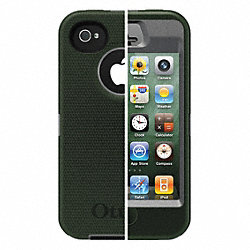 Defender Case, iPhone 4S, Gray/Green