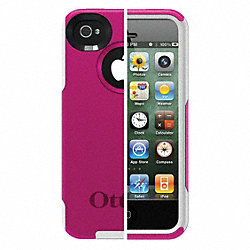 Commuter Phone Case, iPhone 4S, Pink/White