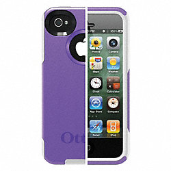 Commuter Case, iPhone 4S, Purple/White