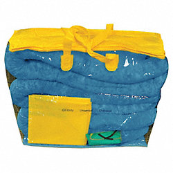 Oil Spill Kit, 5 gal, Zipper Bag