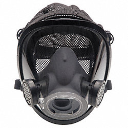 Full-Facepiece Respirator, Poly Headnet, L
