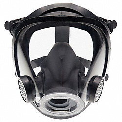 Full-Facepiece Respirator, Rubber, L