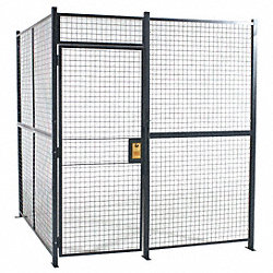 Welded Wire Partition, 3 sided, hinge door