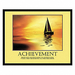 Motivational Print, Achieve, Frame, 24 x 30