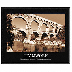 Motivational Print, Teamwork, Frame, 24 x30