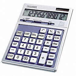 Desktop Calculator, LCD, 12 Digit