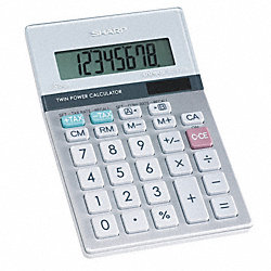 Desktop Calculator, LCD, 8 Digit