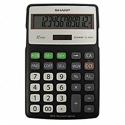 Recycled Semi-Desk Calculator, 12 Digit
