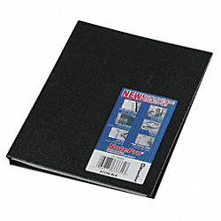 Notebook, 9-1/4 x 7-1/4 In, Black