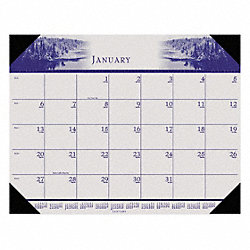 Monthly Desk Calendar, 22x17 In, Nature