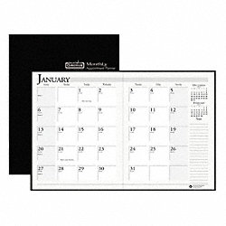 Planner, Leatherette Cover, 8-1/2x11 In.