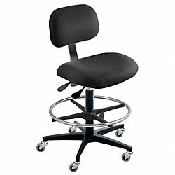 Ergonomic Chair, Black, Cloth