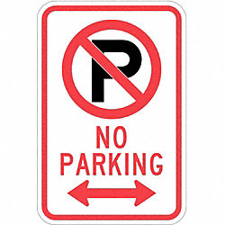 Sign, No Parking, 18 x12 In