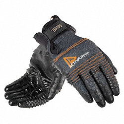 Cut Resistant Gloves, Black/Gray, XL, Pr