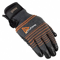 Cut Resistant Gloves, Black/Gray, M, Pr