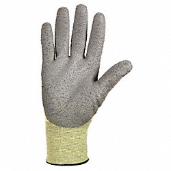 Coated Gloves, PU, Yellow and Gray, PR