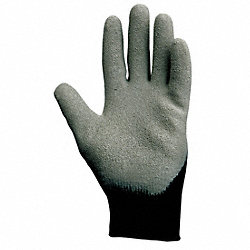 Coated Gloves, 2XL, Gray/Black, PR