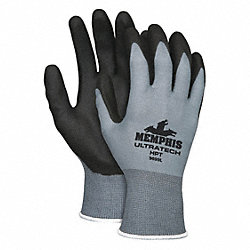 Nylon Knit Glove, S, Black/Blue, PR