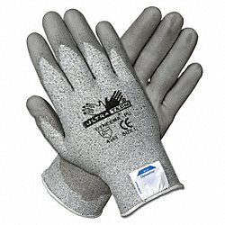 Coated Gloves, XL, Salt-N-Pepper, PU, PR