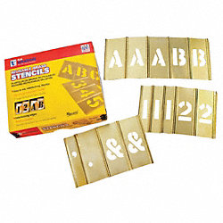 1 inch Stencil Let. & Num. 92 pc Set