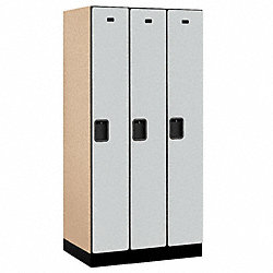 Assembled Locker, 1 Tier, 36x21x76, Gray