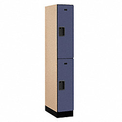 Assembled Locker, 2 Tier, 12x21x76, Blue