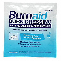 Burn Dressing, 8 x 8 In., PK 4