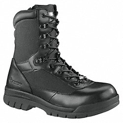 Boots, Steel, Mens, 14EW, Black, PR